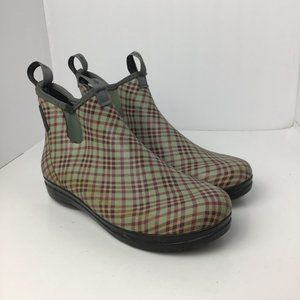 LaCrosse Women Hampton II Rain Boots Red Tweed 10